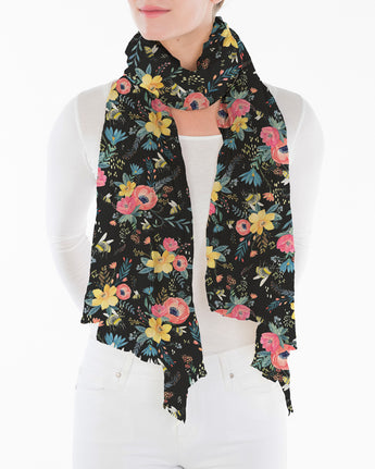 Bumble Bee Floral - Black