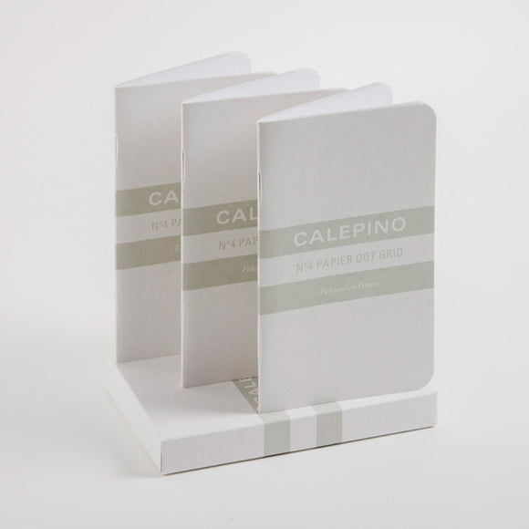 Calepino - No. 4 Notebook Dot Grid Set of 3