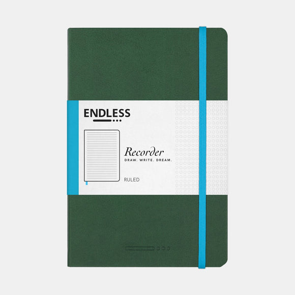 Endless Recorder Notebook - A5 Ruled