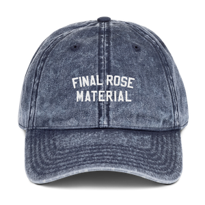 Final Rose Material Vintage Cap - PlanetSlay