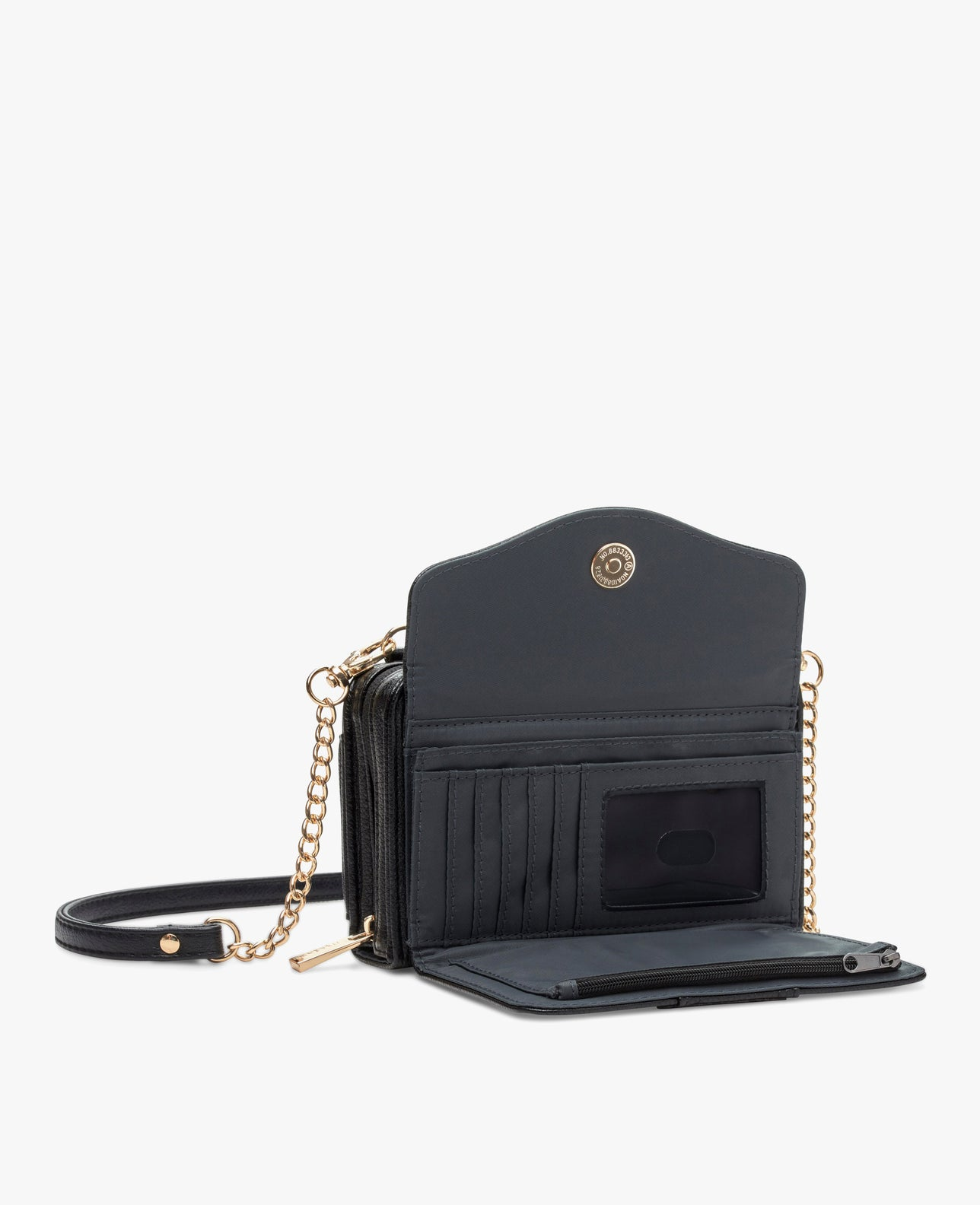 color:black with gold hardware