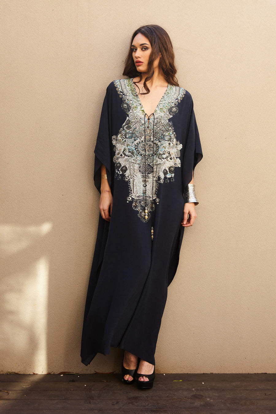 ALICE SILK LONG KAFTAN