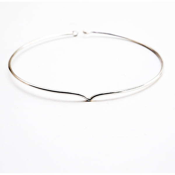 Clarity Collar Solid Sterling Silver Necklace-Women - Jewelry - Necklaces-BISJOUX-The Luxury Upgrade