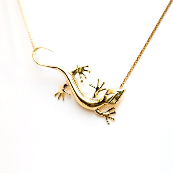 Lezard Pendant Necklace-Women - Jewelry - Necklaces-BISJOUX-The Luxury Upgrade