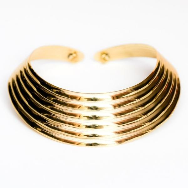 Ribbed Collar Necklace-Women - Jewelry - Necklaces-BISJOUX-The Luxury Upgrade