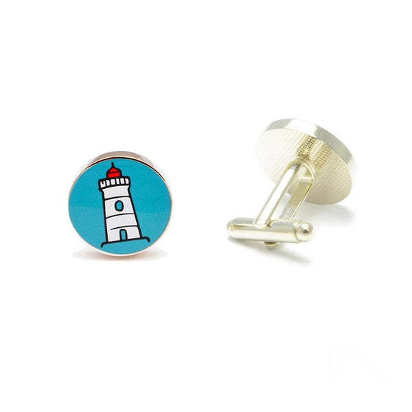 Lighthouse Cufflinks-Men - Accessories - Cufflinks-SummerTies-The Luxury Upgrade