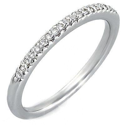 Round Diamond Prong Set Gold Wedding Band Ring at 0.34 Carat Total Weight-Bands-The Luxury Upgrade-The Luxury Upgrade