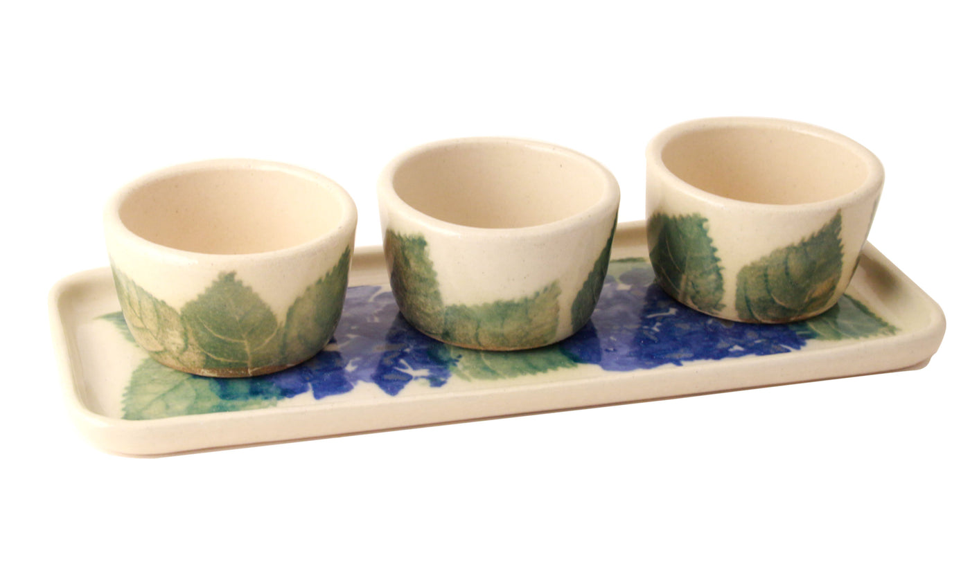 Hydrangea Pinch Pot Set