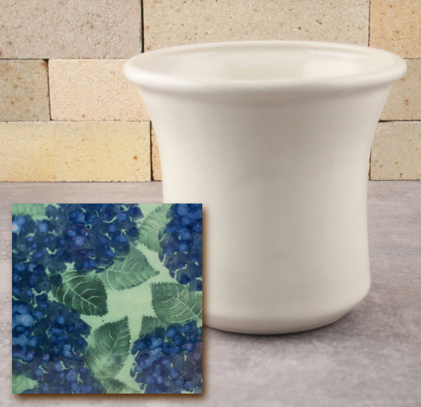 Utensil Holder - Green Hydrangea