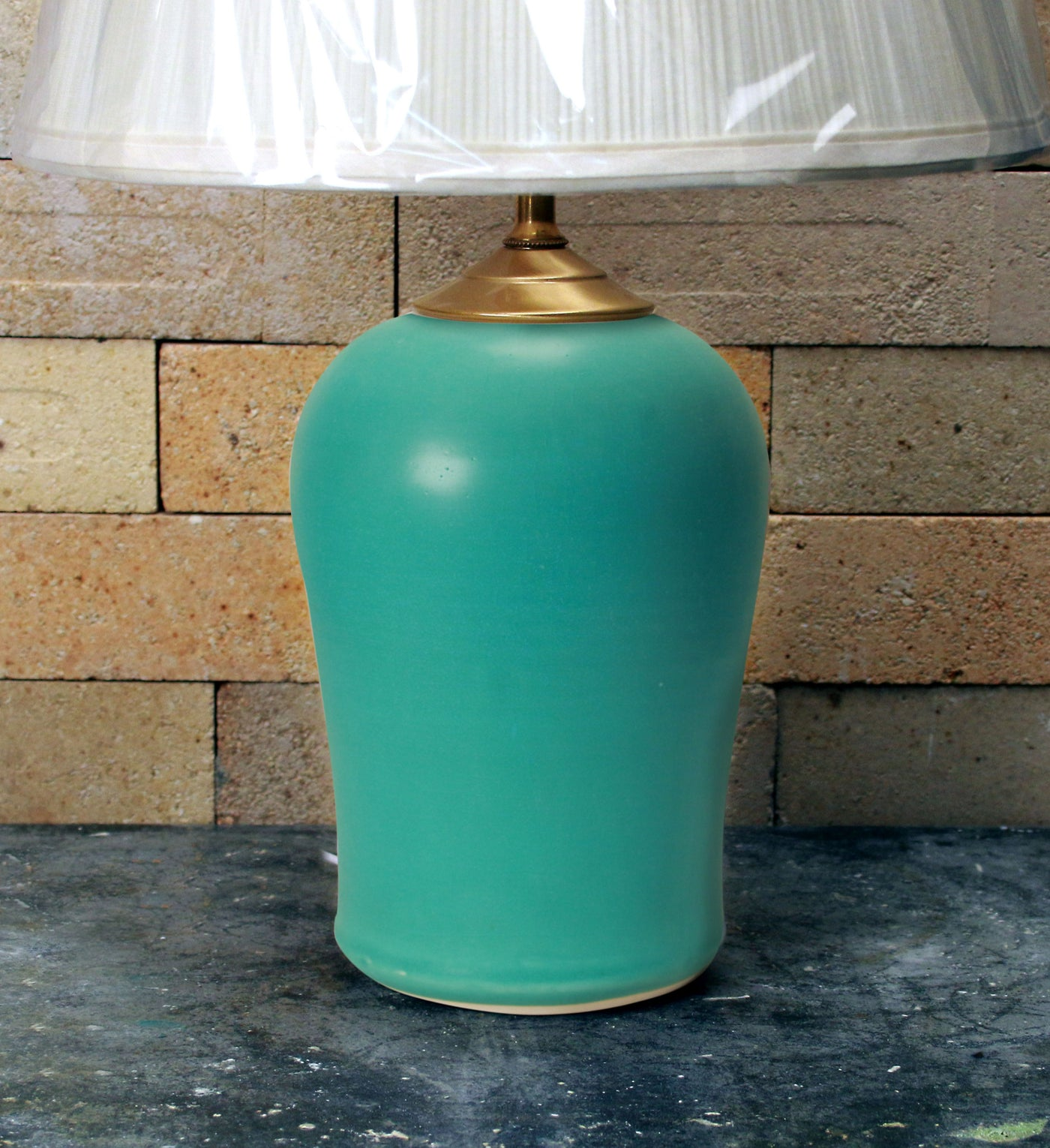 Chatham Pottery Caribbean Blue Small Lamp
