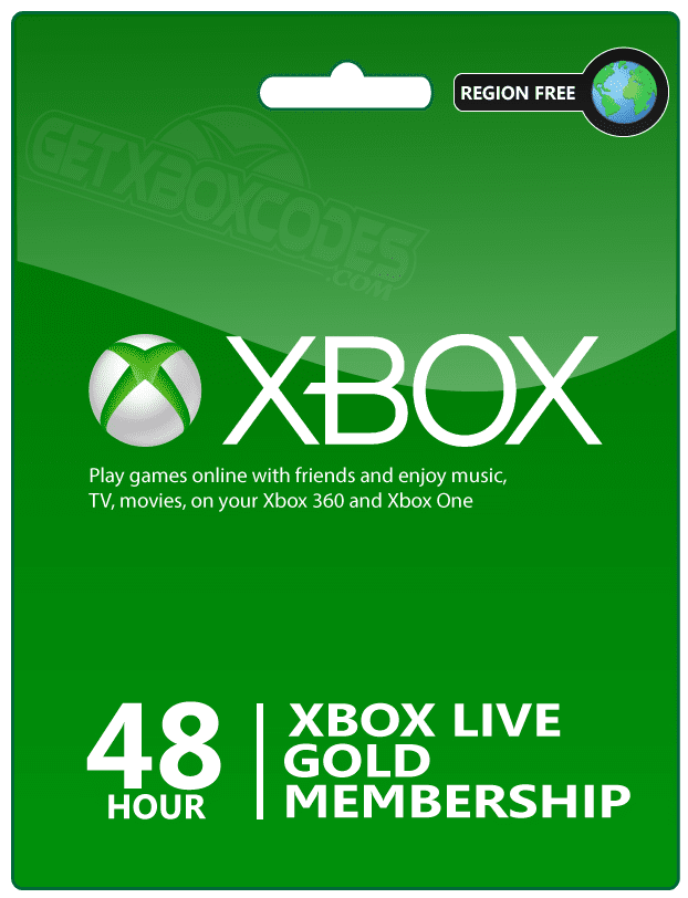 XBOX Live Gold 48-Hour Digital Code