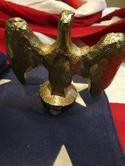 Patriotic Antique American Eagle Flag Topper | Gold Plated | US Flag Eagle 3.5"