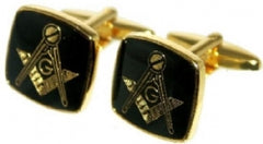 Masonic Cufflinks | Black and Gold | Sterling and Burke-Cufflinks-Sterling-and-Burke