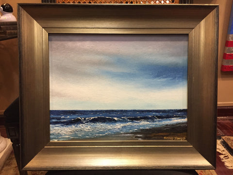 "Art | Breezes | Original Oil Painting by Claire Howard | 15.5"" x 18"""