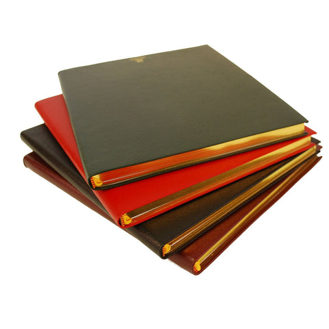 Crossgrain Leather Notebook | 8 by 10 Inches | Lined Pages | Hand Made in England | Charing Cross