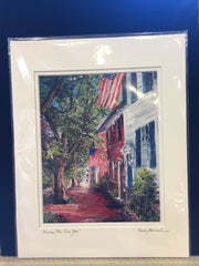 "Art | America, We Love You | Giclee by Claire Howard | 11"" x 14""-Giclee Print-Sterling-and-Burke"