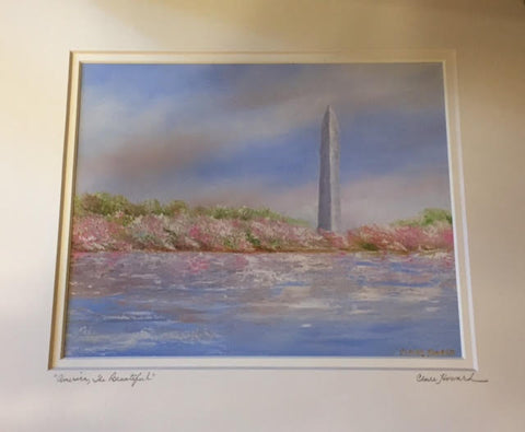 "Art | America, the Beautiful | Giclee Hand Signed by Claire Howard | 11"" x 14"""