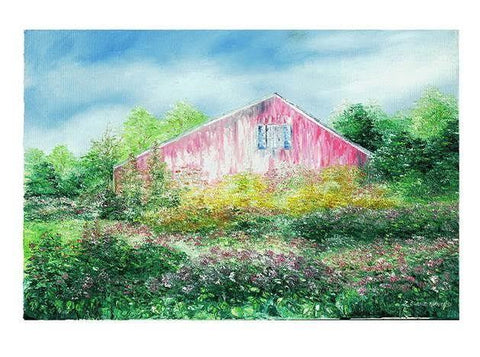 "Art | Summer Fields | Giclee by Claire Howard | 5"" x 7'"