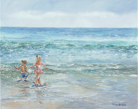 "Art | Sweet Big Sister by Claire Howard | Giclee | 21"" x 27"""