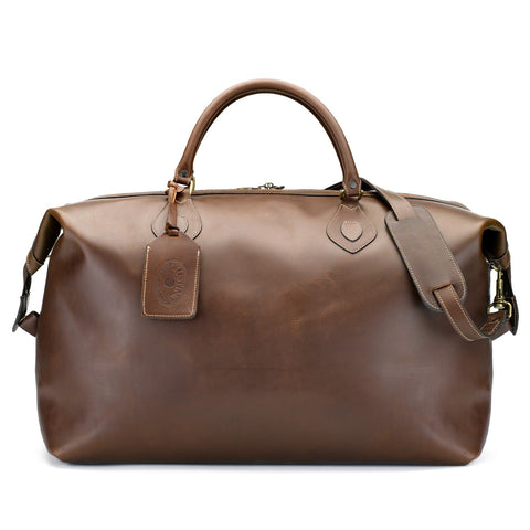 Explorer Leather Holdall Duffle Bag | Large | Various Colors | Tusting | Made in England