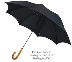 The Kate Umbrella | A Ladies Royal Umbrella | Kate Middleton's Ladies Umbrella | Black Canopy | Made in England | Sterling and Burke-Ladies Umbrella-Sterling-and-Burke