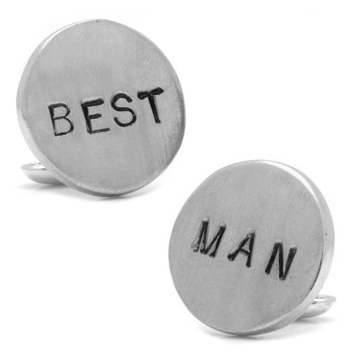 Pewter Best Man Cufflinks | Hand Made in America | Custom Cufflinks-Cufflinks-Sterling-and-Burke
