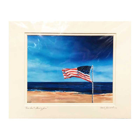 "Art | From Sea to Shining Sea | Giclee by Claire Howard | 11"" x 14"""