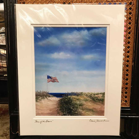 "Art | Home of the Brave Print by Claire Howard | 14"" x 11"""