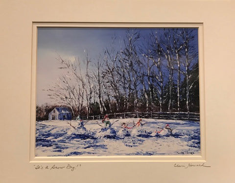 "Art | It's A Snow Day! | Giclee With Mat Hand Signed by Claire Howard | 11"" x 14"""