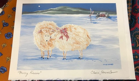 "Art | Merry Kisses | Stationary Note Card | Hand Signed by Claire Howard | 5"" x 7"""
