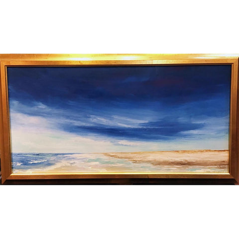 "Art | Summer Seascape | Original Oil by Claire Howard | 18"" x 33"""