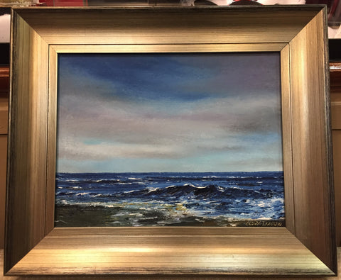 "Art | Twilight Tides I I Oil Painting by Claire Howard | 15.5"" by 18"""