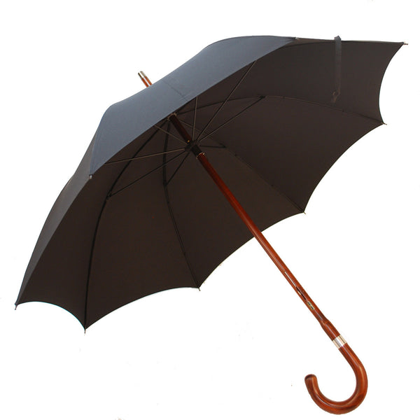 Solid Shaft Umbrella Cherry Wood Hand Made In England