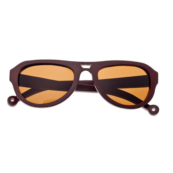 Earth Wood Coronado Sunglasses w/ Polarized Lenses - Red Rosewood/Brown - Earth Wood Goods - Wood Watches, Wood Sunglasses, Natural Cork Bags