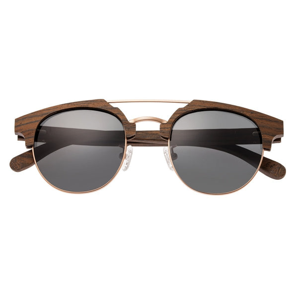 Earth Wood Kai Sunglasses w/ Polarized Lenses - Walnut Zebrawood/Black - Earth Wood Goods - Wood Watches, Wood Sunglasses, Natural Cork Bags