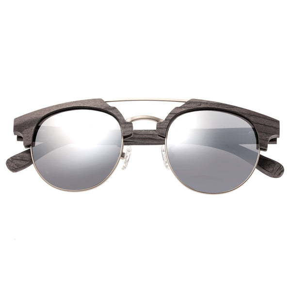 Earth Wood Kai Sunglasses w/ Polarized Lenses - Grey/Silver - Earth Wood Goods - Wood Watches, Wood Sunglasses, Natural Cork Bags