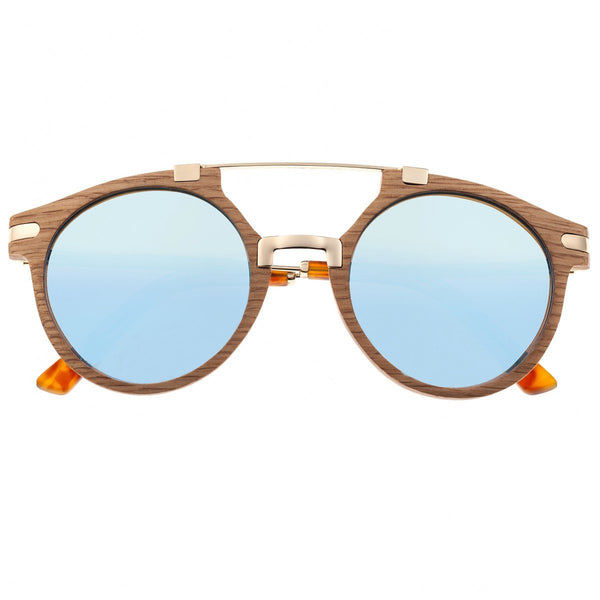 Earth Wood Petani Sunglasses w/Polarized Lenses - White Oak/Blue - Earth Wood Goods - Wood Watches, Wood Sunglasses, Natural Cork Bags