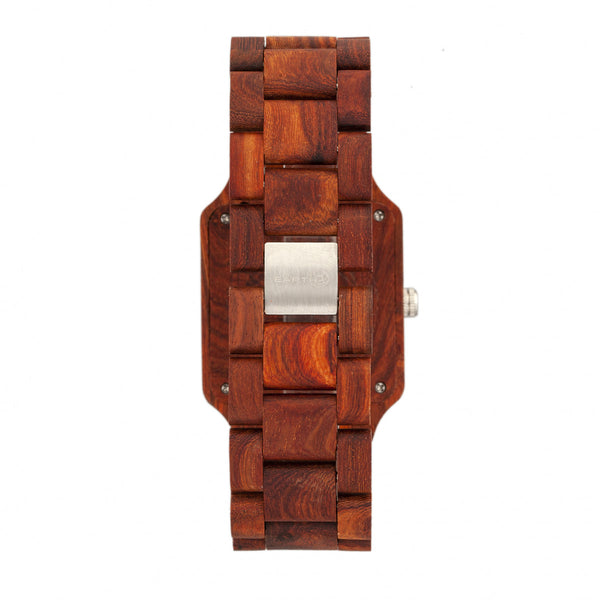 Earth Wood Arapaho Bracelet Watch w/Date - Red - Earth Wood Goods - Wood Watches, Wood Sunglasses, Natural Cork Bags