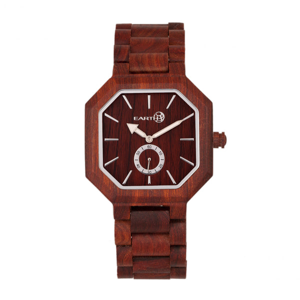 Earth Wood Acadia Bracelet Watch - Red - Earth Wood Goods - Wood Watches, Wood Sunglasses, Natural Cork Bags