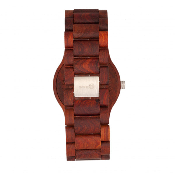 Earth Wood Bonsai Bracelet Watch w/Day/Date - Red - Earth Wood Goods - Wood Watches, Wood Sunglasses, Natural Cork Bags