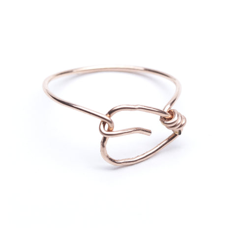 Basswood Ring - Rose Gold Leaf Ring