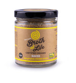 Large 90 gram jar of organic dehydrated Naked Chicken Bone Broth