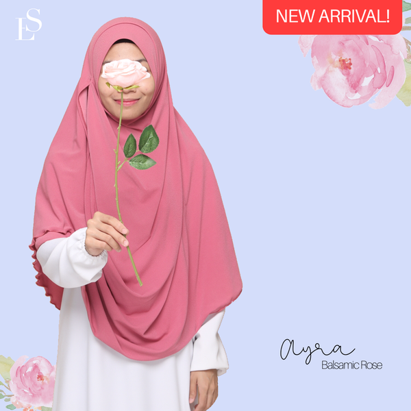 INSTANT SHAWL AYRA - Balsamic Rose
