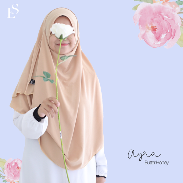 INSTANT SHAWL AYRA - Butter Honey