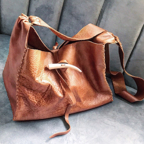 Antler + Whiskey Leather Hobo