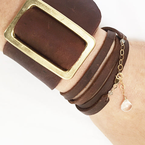 Crane Beach Saddle Cuff