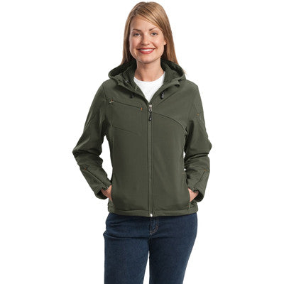 Port Authority Ladies Textured Hooded Soft Shell Jacket - EZ Corporate Clothing  - 5