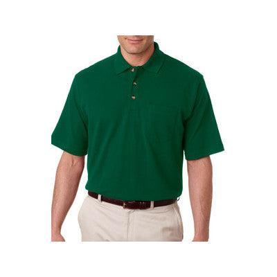 UltraClub Classic Pique Polo with Pocket - EZ Corporate Clothing  - 5