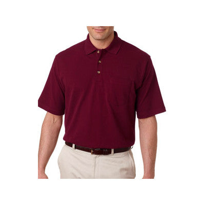 UltraClub Classic Pique Polo with Pocket - EZ Corporate Clothing  - 3