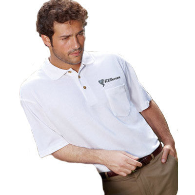 UltraClub Classic Pique Polo with Pocket - EZ Corporate Clothing  - 1